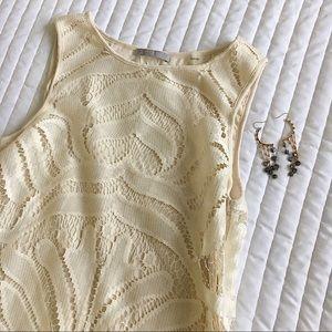 Tart Liv white lace fringe mini dress